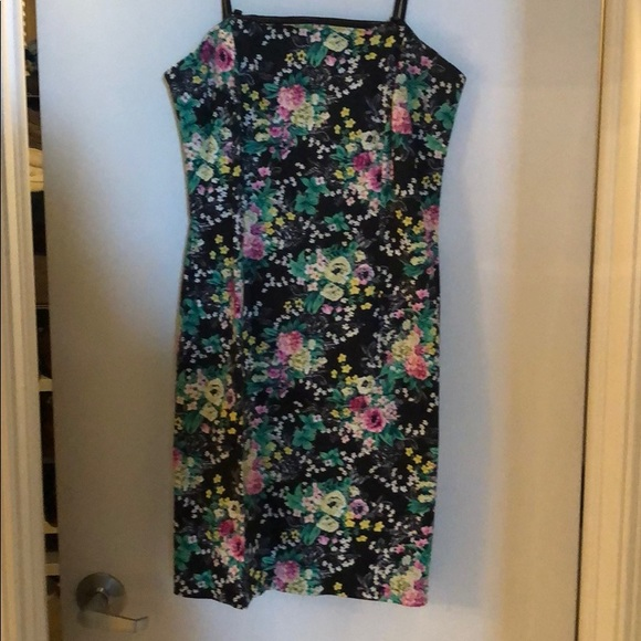Laundry By Shelli Segal Dresses & Skirts - Laundry Black Floral Strapless Dress